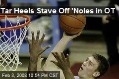 Tar Heels Stave Off 'Noles in OT