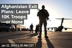 Afghanistan Exit Plans: Leave 10K Troops —or None