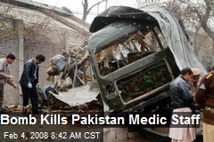 Bomb Kills Pakistan Medic Staff