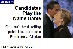 Candidates Play the Name Game