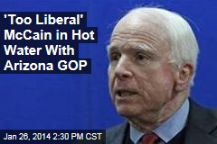 'Too Liberal' McCain in Hot Water With Arizona GOP