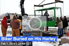 Biker Buried on His Harley