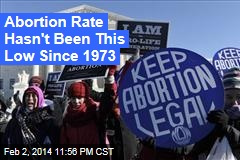 Abortion Rate Lowest Since 1973
