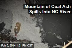 Mountain of Coal Ash Spills Into NC River