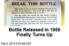 Bottle Released in 1956 Finally Turns Up