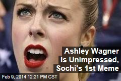 Ashley Wagner Is Unimpressed, Sochi's 1st Meme