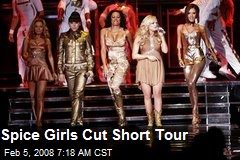 Spice Girls Cut Short Tour