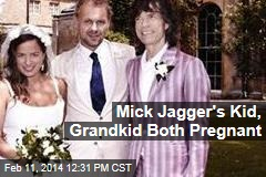 Mick Jagger's Kid, Grandkid Both Pregnant