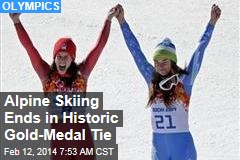 Alpine Skiing Ends in Historic Gold-Medal Tie