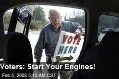 Voters: Start Your Engines!