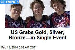 US Sweeps Men's Slopestyle Skiing
