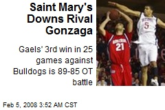 Saint Mary's Downs Rival Gonzaga