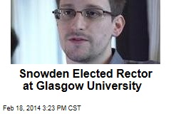 Snowden Elected Rector at Glasgow University