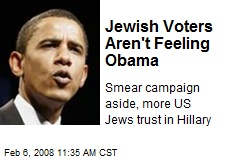 Jewish Voters Aren't Feeling Obama
