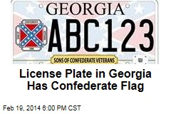 License Plate in Georgia Has Confederate Flag