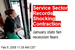 Service Sector Records Shocking Contraction