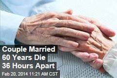 Couple Married 60 Years Die 36 Hours Apart