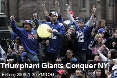 Triumphant Giants Conquer NY