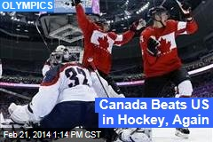Canada Eliminates US in Hockey, Again