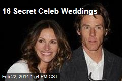 16 Secret Celeb Weddings