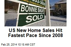 US New Home Sales Hit Fastest Pace Since 2008