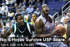 No. 6 Hoyas Survive USF Scare