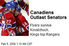 Canadiens Outlast Senators