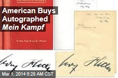 American Buys Autographed Mein Kampf