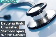 Bacteria Risk: Unwashed Stethoscopes