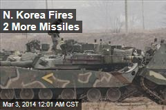 N. Korea Fires 2 More Missiles Amid US War Games