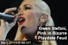 Gwen Stefani, Pink in Bizarre Playdate Feud
