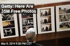 Getty: Here's 35M Free Photos