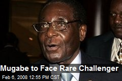 Mugabe to Face Rare Challenger