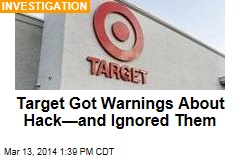 Target Got Warnings About Hack—and Ignored Them