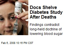 Docs Shelve Diabetes Study After Deaths