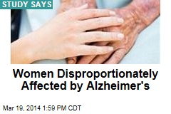 Women Disproportionately Affected by Alzheimer's