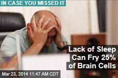 Lack of Sleep Can Fry 25% of Brain Cells