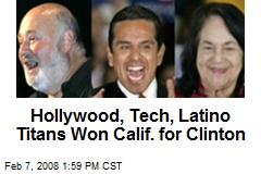 Hollywood, Tech, Latino Titans Won Calif. for Clinton