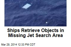 Ships Retrieve Objects in Missing Jet Search Area
