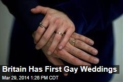 Britain Has First Gay Weddings