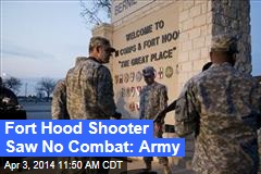 Fort Hood Shooter Saw No Combat: Army