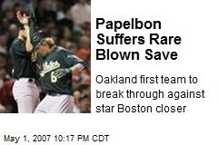 Papelbon Suffers Rare Blown Save