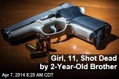 Girl, 11, Shot Dead by 2-Year-Old Brother