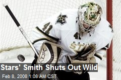 Stars' Smith Shuts Out Wild