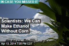 Scientists: We Can Make Ethanol Without Corn