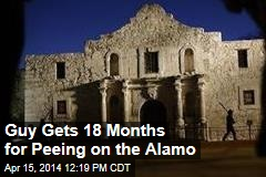Guy Gets 18 Months for Peeing on the Alamo