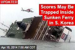 3 Dead, 104 Missing in S. Korea Ferry Sinking