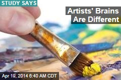 Artists' Brains Are Different