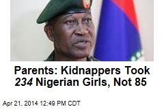 Parents: Kidnappers Took 234 Nigerian Girls, Not 85