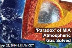 'Paradox' of MIA Atmospheric Gas Solved